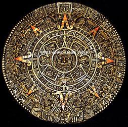 """16.5"""" Aztec Maya Mayan Solar Sun Stone Calendar Statue Sculp"""