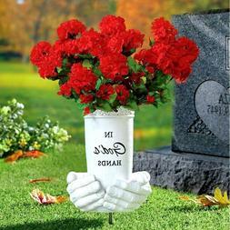 Memorial Flower Vase Stake Grave Cemetery Marker Beloved Dep