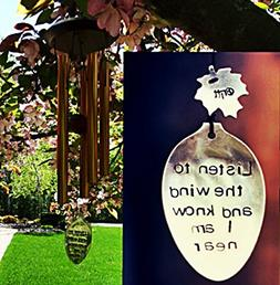 Memorial Wind Chime in memory of Loved One Copper Wind Chime