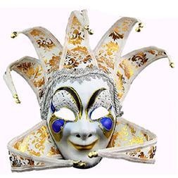 Men's Jester Venetian Full Face Mask Joker Masquerade Decora