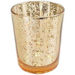 "Just Artifacts Mercury Glass Votive Candle Holder 2.75"" H  -"