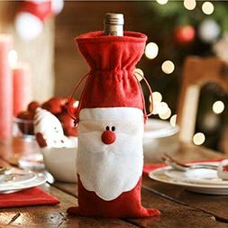 Merry Christmas Xmas Santa Wine Bottle Bag Cover Dinner Part