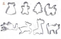 Metal Cookie Cutters Set,LeJihome With 1 Love, 1 Flowers Sha