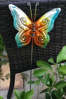 "Metal Garden Decor 24"" Butterfly Yard Art Pond Lawn Orname"