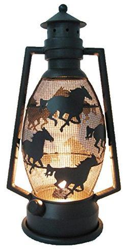 LL Home Metal Horse Lantern Light