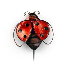Metal Ladybug Garden Stake or Wall Decor Small Yard Pick for