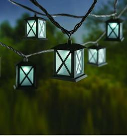 Metal Lantern LED Indoor Outdoor Hanging String Lights Patio