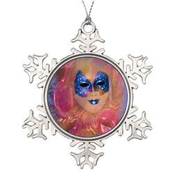 Metal Ornaments Tree Branch Decoration Mask venetian masquer