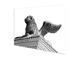 Ashley Giclee Metal Panel Print, Winged Lion Statue In Piazz