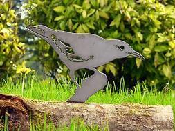 Metal Rusty Clarks Nutcracker Bird Garden Home Yard Outdoor