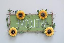 Metal Yard Art Fence sunflower Outdoor Garden Art Barn art F