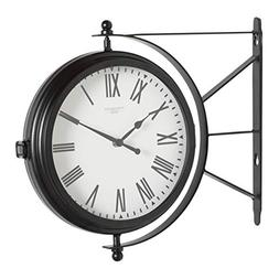 """Studio Designs Home Metro Station 18"""" Dual Face Clock and Th"""