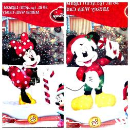 "Disney Mickey & Minnie Mouse 36"" Lighted Iridescent Christma"