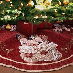 Disney Park Mickey Minnie Mouse Victorian Tapestry Christmas