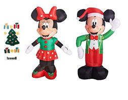 Mickey Mouse and Minnie Mouse Airblown Disney Christmas Infl