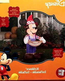 Mickey Mouse Thanksgiving Inflatable 3.8 Foot Scarecrow Airb