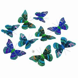 "MIDNIGHT GLITTER BUTTERFLY GARLAND 2.75x4.5x78""H"