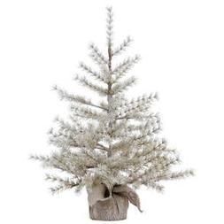 "36"" Mini Artificial Pine Christmas Tree, Light Brown"