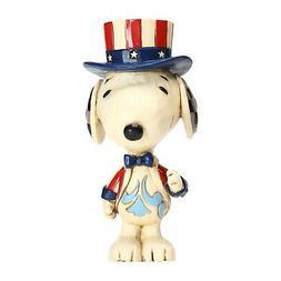 Mini Patriotic Snoopy Peanuts Figurine Jim Shore USA America
