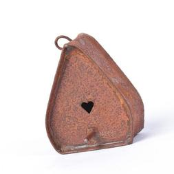 Package of 8 Mini 2 inch Rusty Tin Birdhouse Ornaments
