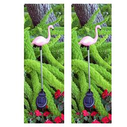 GSL SS-GSL-E2183 Flamingo Stake with Solor Color Changing Li