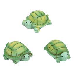 Mini Turtle Resin Figurines, Assorted Sizes, 3-Piece