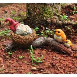 Miniature Dollhouse FAIRY GARDEN / Garden Gnome Napping In B