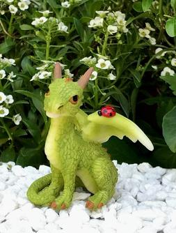 Miniature Dollhouse FAIRY GARDEN Figurine ~ Mini Green Drago