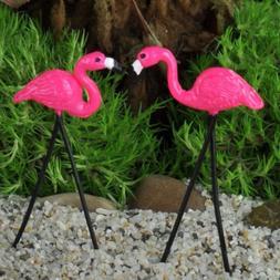 Miniature Dollhouse FAIRY GARDEN/ Retro Flamingo Pair