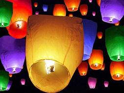 50 PCS || Mixed Colors flying Chinese Paper Lanterns Sky Fir