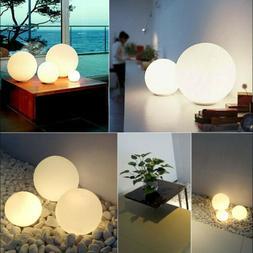 Modern Ball Globe Glass Light LED Floor Table Lamp Bedroom D