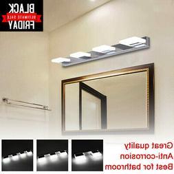 Modern Bathroom Vanity 2/3/4 LED Light Crystal Front Mirror