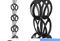 Modern Loop Rain Chain  from Rain Chains Direct™