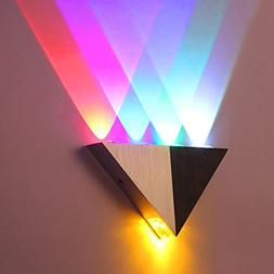 Lemonbest Modern Triangle 5W LED Wall Sconce Light Fixture I