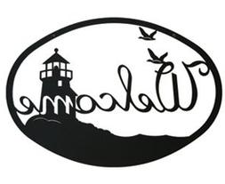 Monazite WEL-177 Lighthouse & Birds Welcome Powder Metal Coa