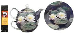 Monet Water Lilies Tea One for in Matching Gift Box and One