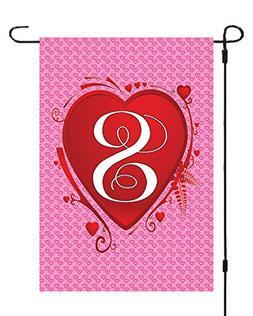 Monogram Initial S Monogram Initial Valentines Day Heart Gar