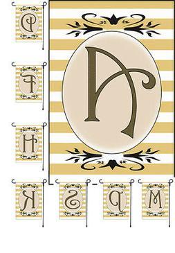 monogram stylish garden banner flag family initial