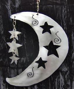 MOON N STARS Hanging Celestial Metal Garden Yard ART