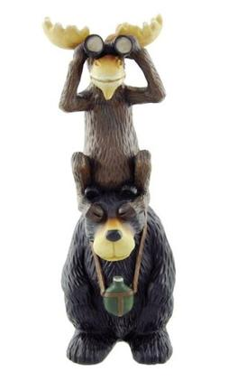 "Bear & Moose ""On the Lookout"", Collectible Sculpture Figure,"