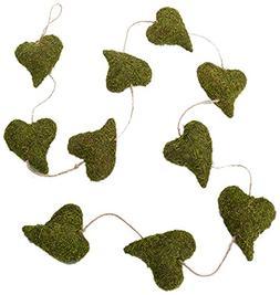 Lillian Rose Rustic Green Moss Heart Garland Wedding Decor