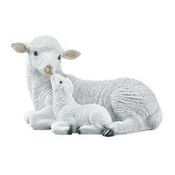 Mother And Baby Sheep Garden Statue, by Collections Etc