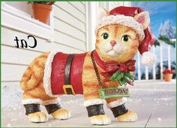 "Motion Sensor Meowing Kitty Cat ""Welcome"" Christmas Yard Sta"