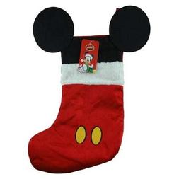 Disney Mouse Ears 18 Velour Christmas Stocking with Plush Cu