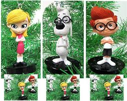Mr. Peabody and Sherman 3 Piece Holiday Christmas Tree Ornam