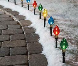 Multi-Color Light Bulb Pathway Markers,11 Inch ,10 Pack
