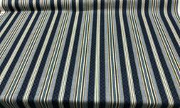 Waverly Multi-Purpose Decor Etienne Indigo Blue Stripe Fabri