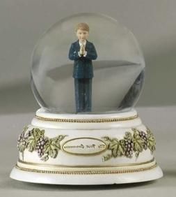 """Musical 5.5"""" First Communion Glitter Dome"""