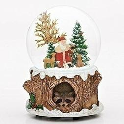 Glitterdomes 100mm Musical Glitter Dome, Features Santa with