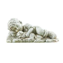 Nap With A Friendly Pet Garden Figurine - Textured and Hand-